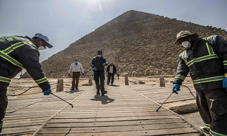 Disinfecting the pyramids