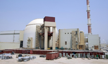 FILE PHOTO: A general view of the Bushehr main nuclear reactor, 1,200 km (746 miles) south of Tehran