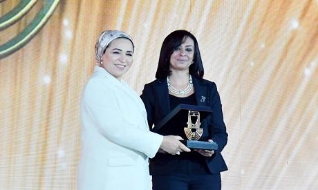 Intissar El-Sisi and Maya Morsi
