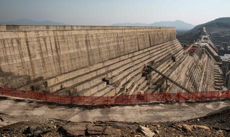 A general view of the Grand Ethiopian Renaissance Dam (GERD), near Guba in Ethiopia, on December 26,
