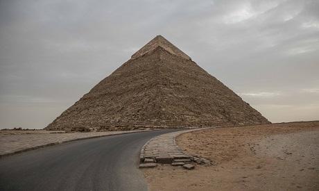 empty Giza Pyramids