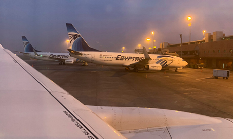File photo: EgyptAir and EgyptAir Express planes are seen parked at Cairo International Airport in E