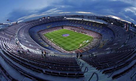 Camp Nou stadium in Barcelona, Spain. (AP)