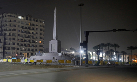 FILE PHOTO: A view of Tahrir square during the curfew ordered by Egyptian Prime Minister Mostafa Mad