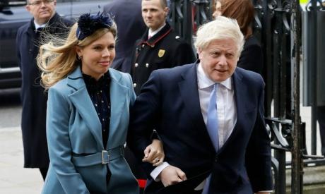Boris Johnson and his partner Carrie Symonds