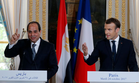 Macron, Sisi