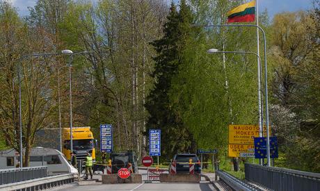 Latvia-Lithuania Border Crossing