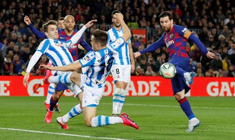 FILE PHOTO: Soccer Football - La Liga Santander - FC Barcelona v Real Sociedad - Camp Nou, Barcelona