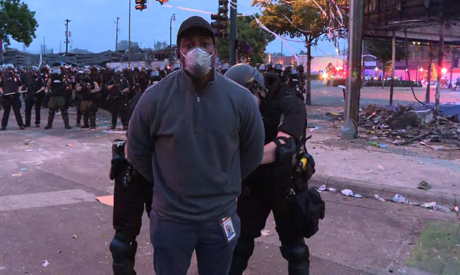 CNN correspondent Omar Jimenez was handcuffed while reporting on Minneapolis protests live on the ai