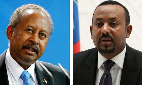 Sudan PM Abdalla Hamdok and Ethiopian Prime Minister Abiy Ahmed