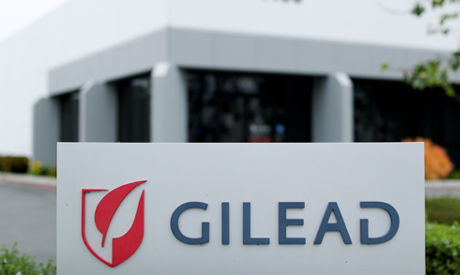 Gilead Sciences Inc pharmaceutical company is seen after they announced a Phase 3 Trial of the inves