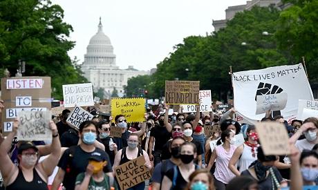 Demonstrators in Washington DC