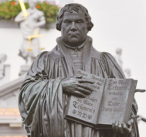 Statue of German church reformer Martin Luther (AFP)