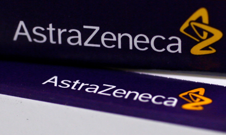 The logo of AstraZeneca is seen on medication packages in a pharmacy in London (Reuters)