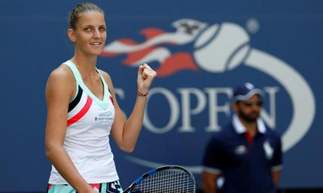 File photo: Karolina Pliskova of Czech Republic celebrates winning her fourth round match against Je