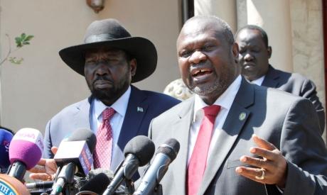 Riek Machar and Salva Kiir Mayardit