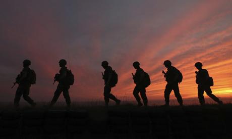 South Korean Marines patrol on Yeonpyeong Island, South Korea, Tuesday, June 16, 2020. (AP)
