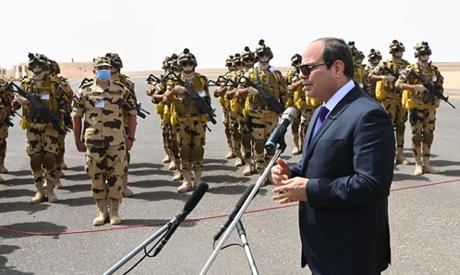 President Abdel-Fattah El-Sisi during his inspection tour of Egypt