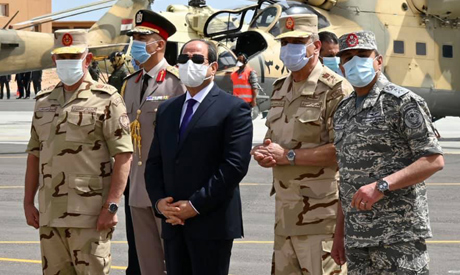 President Abdel-Fattah El-Sisi during his inspection tour of Egypt
