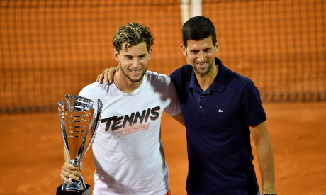 Thiem & Novak Djokovic