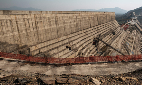 A general view of the Grand Ethiopian Renaissance Dam (GERD), near Guba in Ethiopia. (AFP)