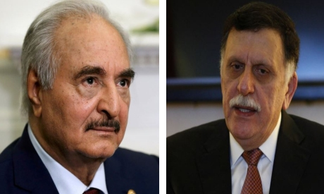 Haftar and Sarraj