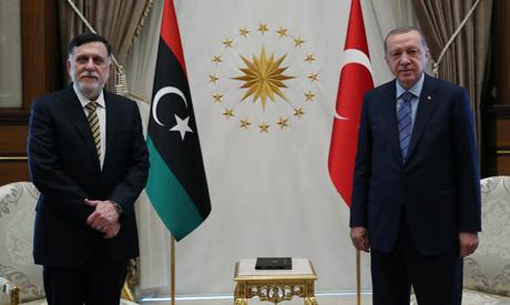 Turkish President Tayyip Erdogan meets with Libya