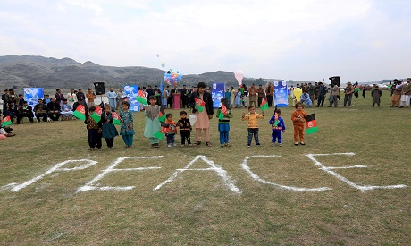 Celebrating Peace agreement in Afghanistan