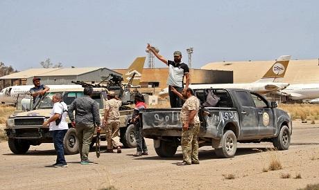 Libyan militias in Tripoli . File AFP