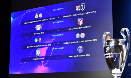 uefa champions league quarter final and semi final draw world sports ahram online ahram online