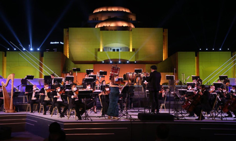 The Cairo Symphony Orchestra returned to action on Saturday at the newly-established Fountain Theatr