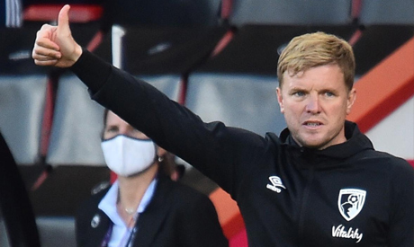 FILE PHOTO: Bournemouth manager Eddie Howe, as play resumes behind closed doors following the outbre