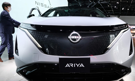 This picture taken on July 14, 2020 shows Nissan
