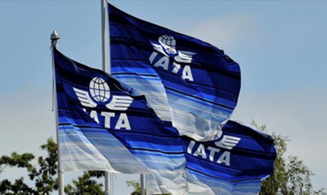 Flags are seen at the 2016 International Air Transport Association (IATA) Annual General Meeting (AG