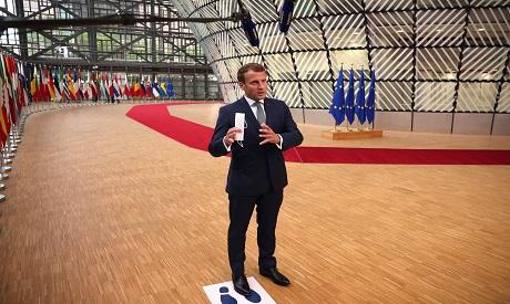 Macron in EU summit