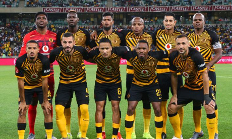 South African Premiership leaders Kaizer Chiefs pose before playing Bloemfontein Celtic this season