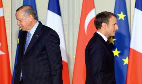 Emmanuel Macron and Recep Tayyip Erdogan