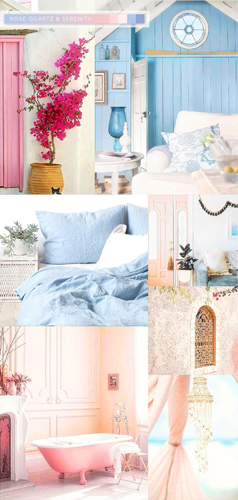 Pastel pink and blue tuned to inspire serenity