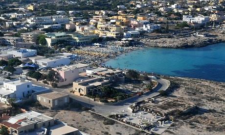 The Italian island of Lampedusa