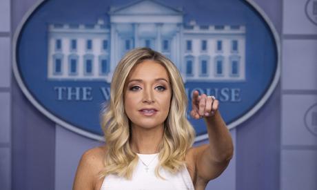 White House press secretary Kayleigh McEnany speaks during a press briefing in the James Brady Press