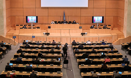 Human Rights Council at the European headquarters of the United Nations in Geneva, Switzerland, June