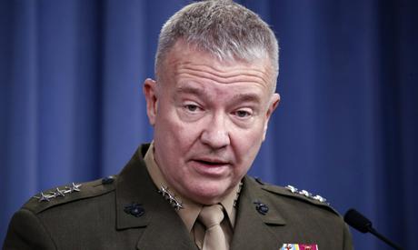 """File photo: then-Marine Lt. Gen. Kenneth """"Frank"""" McKenzie. (AP)"""