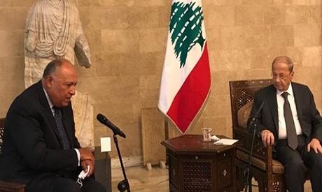 FM Sameh Shoukry and Lebanese president