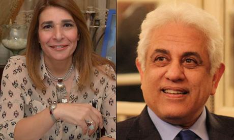 Novelist and journalist Rasha Samir and Dr. Hossam Badrawy
