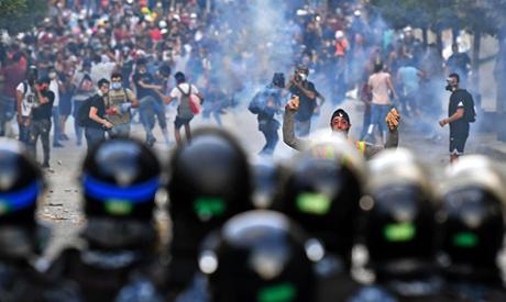 Lebanon protests bring down government