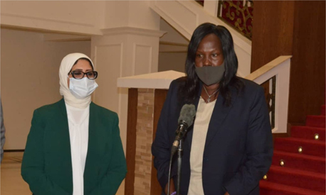 Health minister Zayed, South Sudanese counterpart Elizabeth Achuei