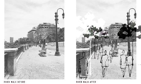 before and after ( courtesy of hana Zaky)