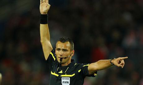 Croatian referee Bebek REUTERS