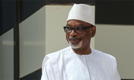 Ibrahim Boubacar Keita poses