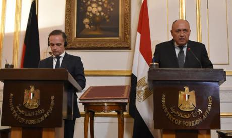 Egypt FM Shoukry, Germany FM Maas